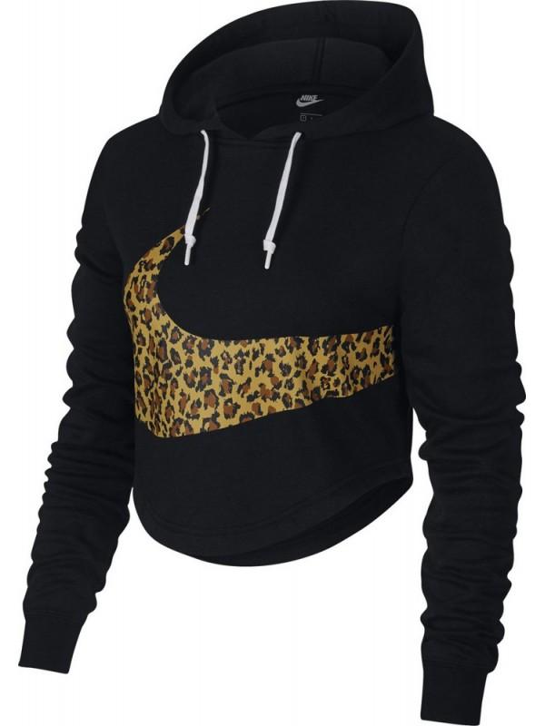 Nike W NSW Hoodie Crop Animal AV6166-010