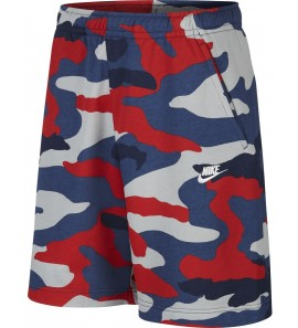 Nike M NSW CLUB SHORT FT CAMO BV2838-012